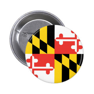 Maryland  Official State Flag 2 Inch Round Button