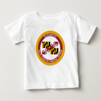 Maryland Old Line State Personalized Flag Baby T-Shirt