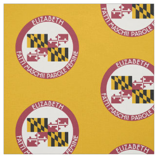 Maryland Old Line State Personalized Flag Fabric