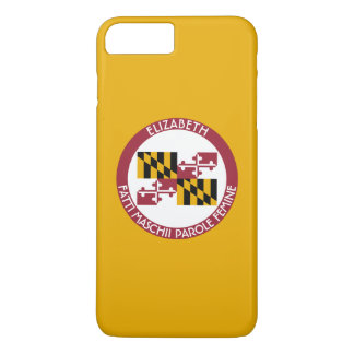 Maryland Old Line State Personalized Flag iPhone 8 Plus/7 Plus Case