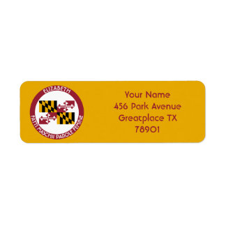Maryland Old Line State Personalized Flag Label