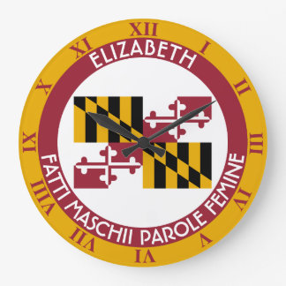 Maryland Old Line State Personalized Flag Large Clock