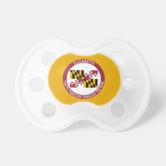 Maryland Old Line State Personalized Flag Pacifier