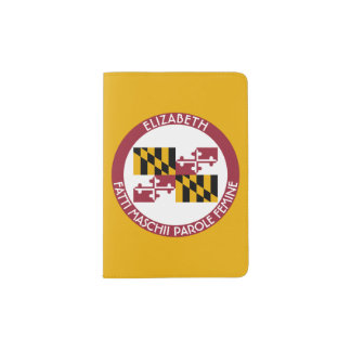 Maryland Old Line State Personalized Flag Passport Holder
