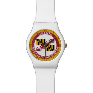 Maryland Old Line State Personalized Flag Wrist Watch