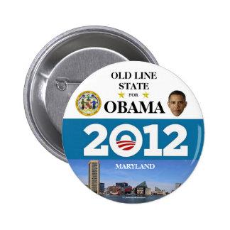 MARYLAND para el botón político del pinback de Oba Pin Redondo De 2 Pulgadas