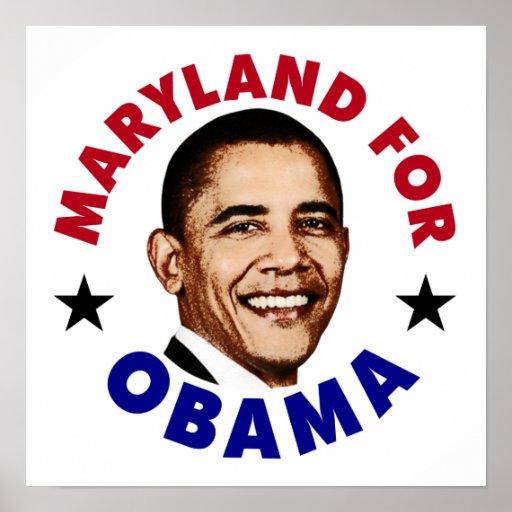 Maryland para Obama Posters