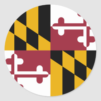 Maryland Pegatina Redonda