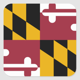 Maryland Pegatina Cuadrada