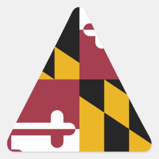 Maryland Pegatina Triangular