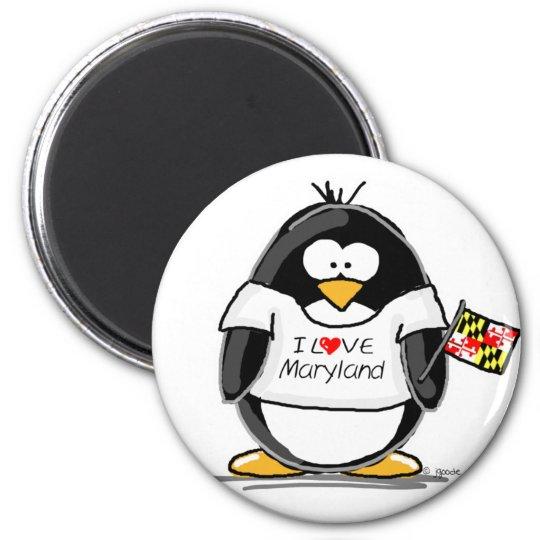 Maryland Penguin Magnet