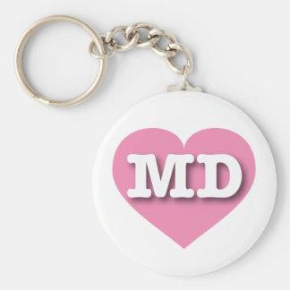 Maryland Pink Heart - Big Love Keychain