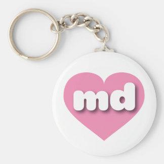 Maryland pink heart - mini love keychain