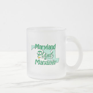 Maryland Plant Manager Frosted Glass Coffee Mug