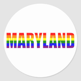 Maryland Pride Classic Round Sticker