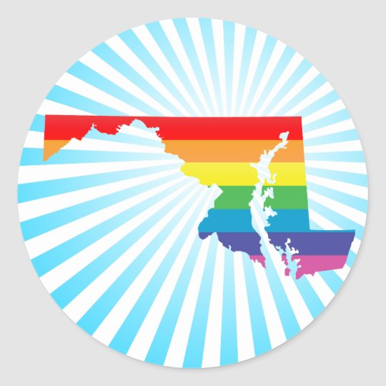 maryland pride. classic round sticker