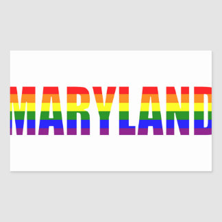 Maryland Pride Rectangular Sticker