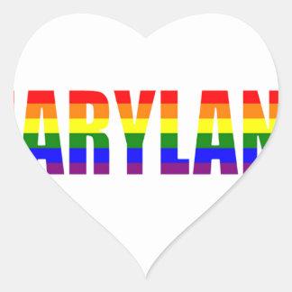 Maryland Pride Heart Sticker