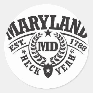 Maryland, puñetas sí, Est. 1788 Pegatina Redonda
