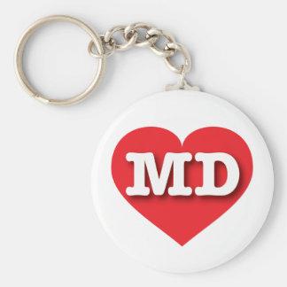 Maryland Red Heart - Big Love Keychain