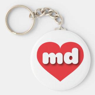 Maryland red heart - mini love keychain