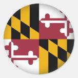 Maryland redondo pegatina redonda