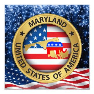 Maryland Republican Patriotic Invitation - srf
