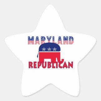Maryland Republican Star Sticker