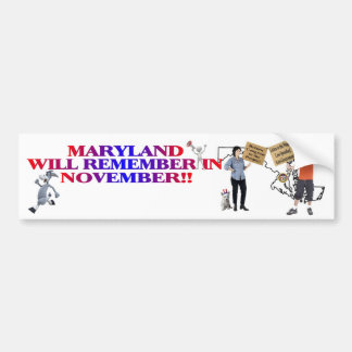Maryland - Return Congress To The People!! Bumper Sticker