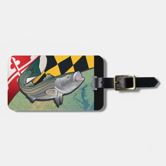 best sneakers d7904 dd770 Maryland Rockfish Flag Bag Tag   Zazzle.com