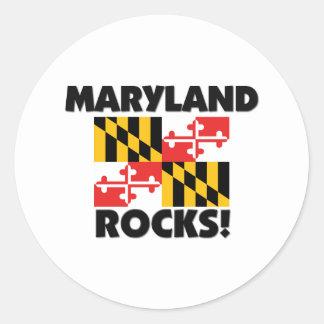 Maryland Rocks Classic Round Sticker