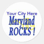 Maryland Rocks ! Classic Round Sticker