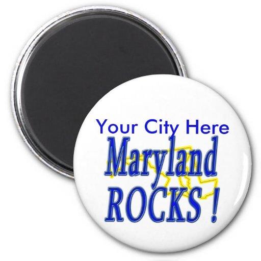 Maryland Rocks ! Fridge Magnet