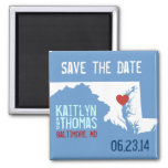 Maryland Save the Date - Customizable City Refrigerator Magnets