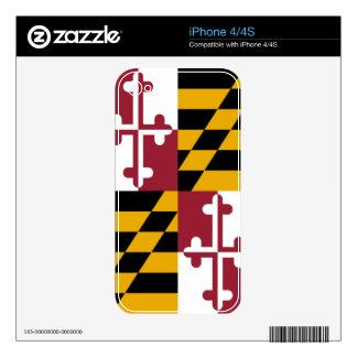 Maryland Skins Para eliPhone 4