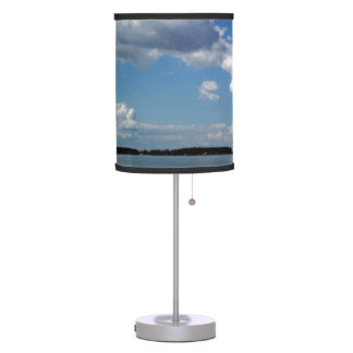 Maryland Skyline Choptank Bay Linen Fabric Lamp