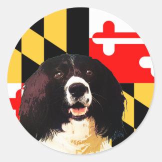 Maryland Springer Spaniel Classic Round Sticker