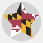 Maryland Star Stickers
