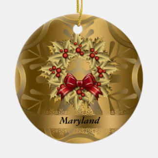 Maryland State Christmas Ornament
