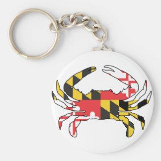 Maryland state falg crab key chain