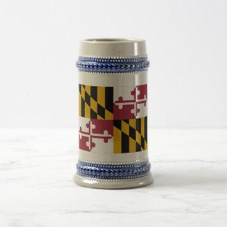 Maryland State Flag 18 Oz Beer Stein