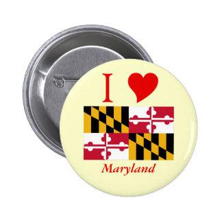 Maryland State Flag 2 Inch Round Button