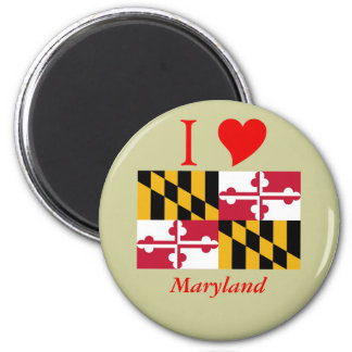 Maryland State Flag 2 Inch Round Magnet