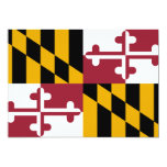 Maryland State Flag 5x7 Paper Invitation Card