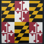 "Maryland State Flag American MoJo Napkin<br><div class=""desc"">Elegant American MoJo Napkin with Flag of Maryland State. United States Of America. This product its customizable.</div>"