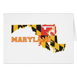 Maryland state Flag and Map Card