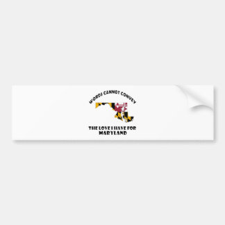 Maryland state flag and map designs bumper sticker