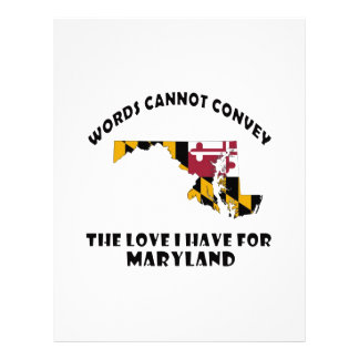 Maryland state flag and map designs letterhead