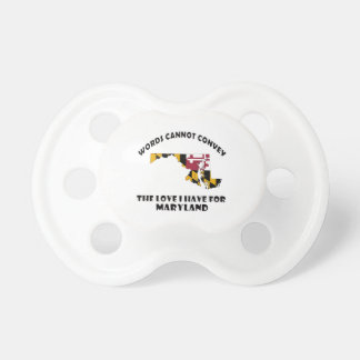 Maryland state flag and map designs pacifier