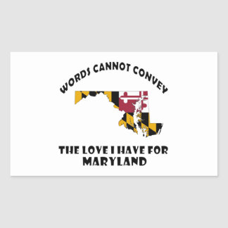 Maryland state flag and map designs rectangular sticker